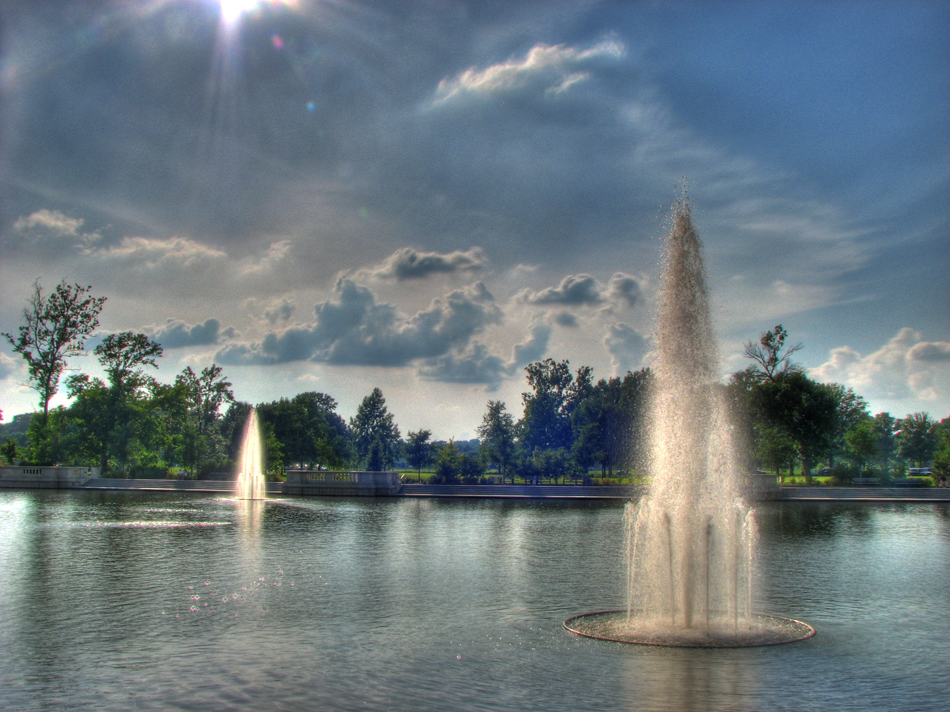 HDR Forest Park Fountains