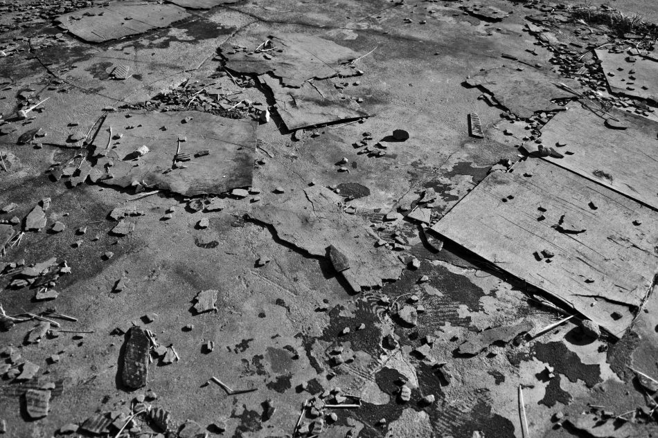 Broken Tiles in Black & White