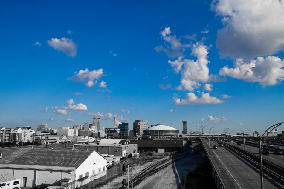 Downtown New Orleans, Interstate 10, Blue Sky