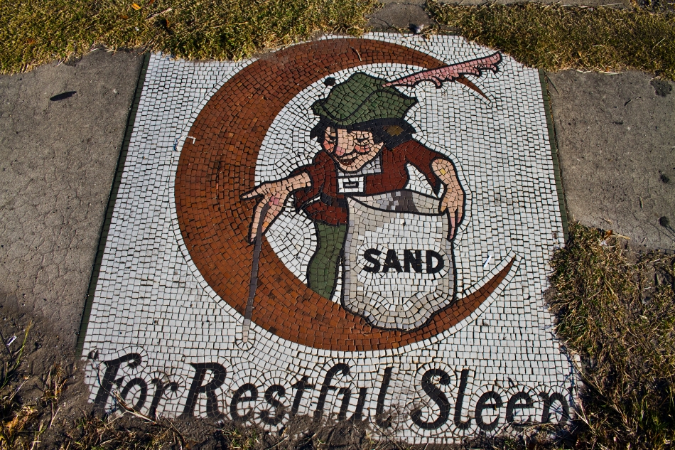Sidewalk Mosaic of The Sandman