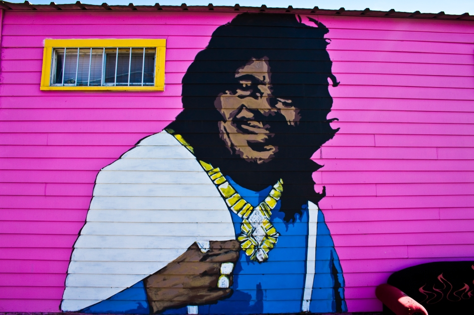 A large painting of Ernie K-Doe on the side of Euclid Records in the Bywater neighborhood of New Orleans, LA