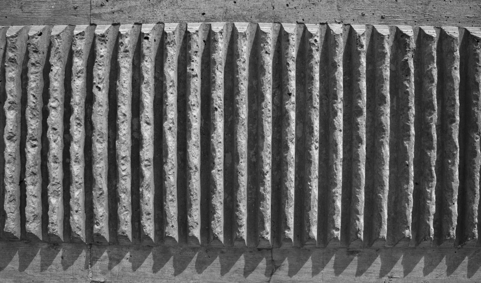 Cement ridges.