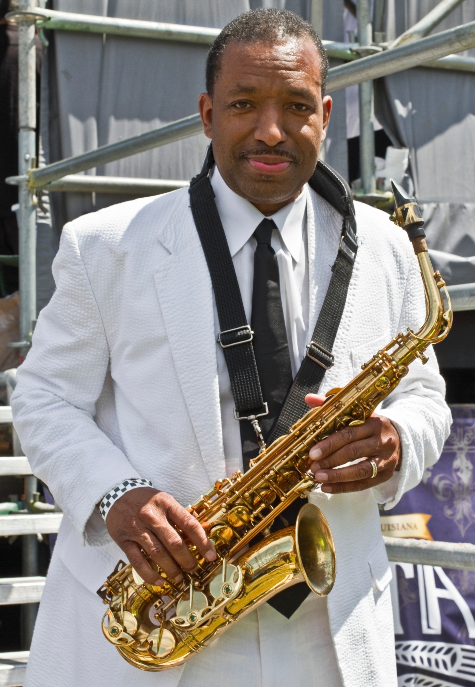 Donald Harrison, Jr. at French Quarter fest April 13, 2013 in New Orleans, LA