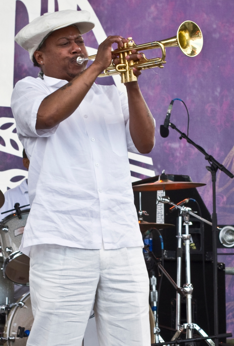 Kermit Ruffins performing at French Quarter Fest, New Orleans, LA - April 13, 2013