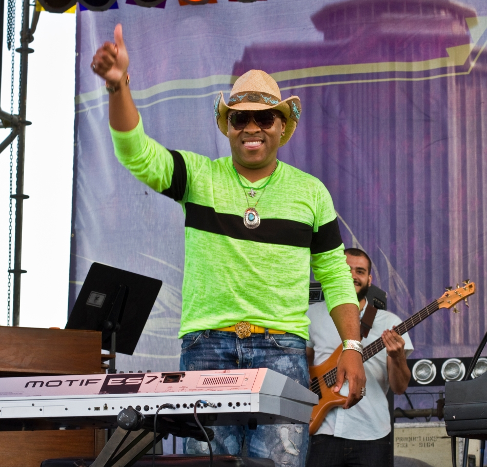 Davell Crawford at French Quarter Fest in New Orleans, LA - April 13, 2013