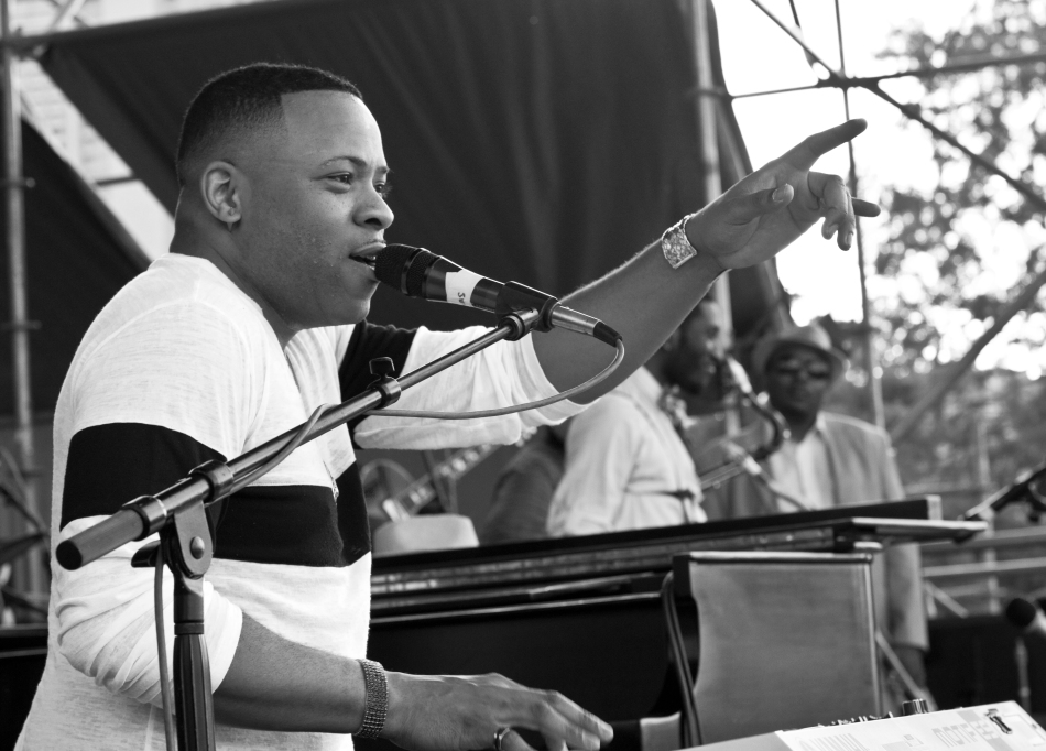 Davell Crawford performing at French Quarter Fest in New Orleans, LA on April 13, 2013
