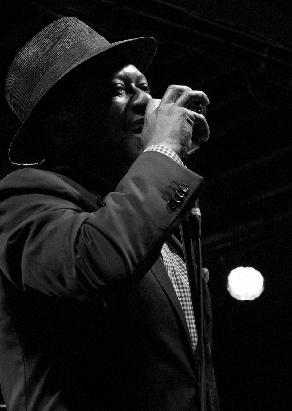Jazz trumpeter and vocalist Kermit Ruffins performing at Tipitina's in New Orleans, LA on June 8, 2013