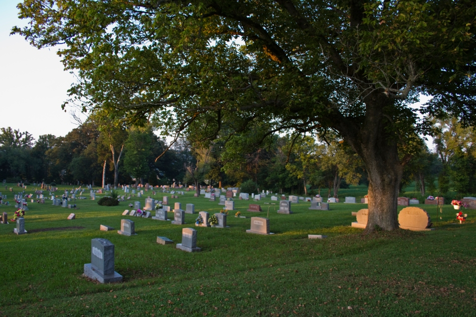 A graveyard in Ellington, MO