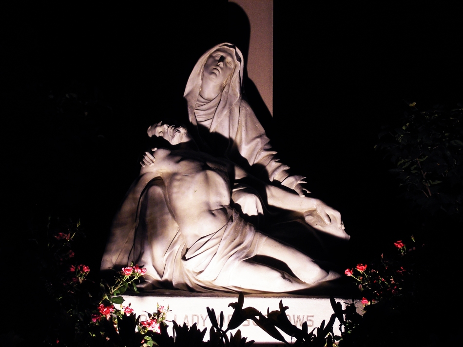 A re-creation of Michaelangelo's Pieta in St. Louis, MO at Our Lady of Sorrows church.