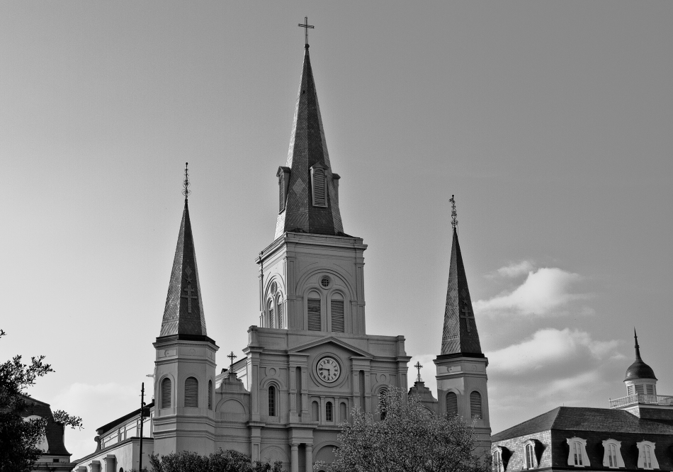 St. Louis Cathedral in the French Quarter in New Orleans, LA