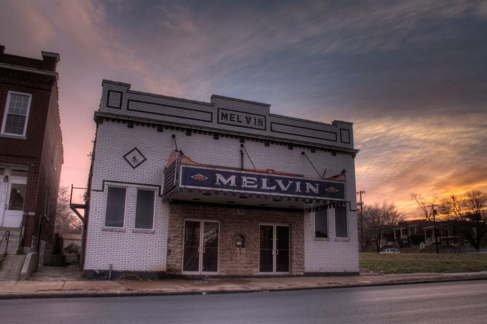 The Melvin Theatre on Chippewa Street in South Saint Louis, MO. A movie theatre that was founded in 1914. bgpiperphotography.com