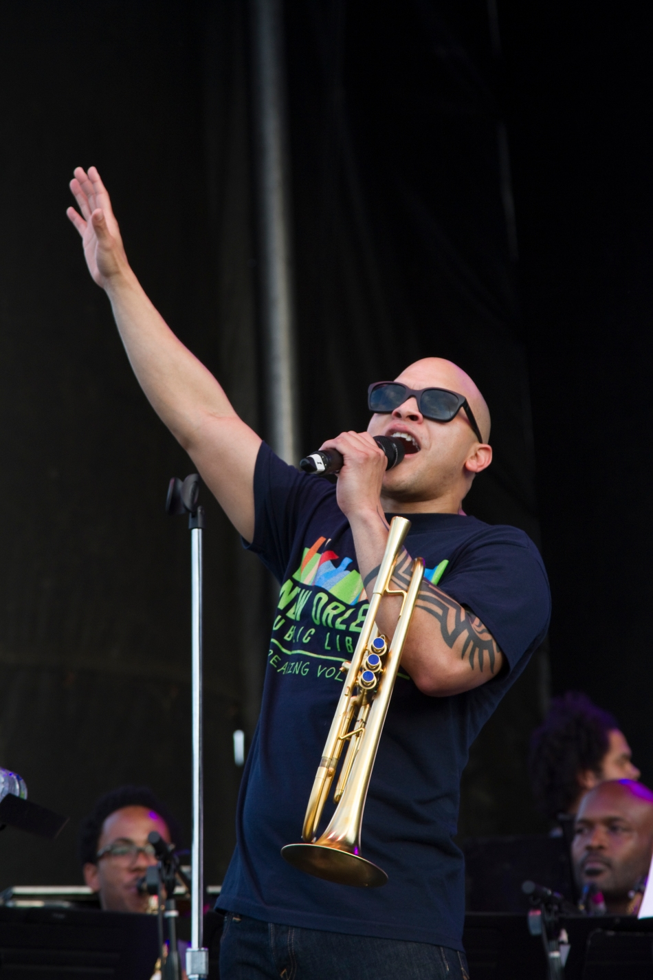 Irvin Mayfield singing and performing at French Quarter Fest 2015. Photo by Braden Piper bgpiperphotography.com