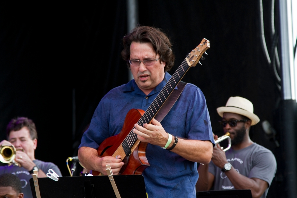 Steve Masakowski performing at French Quarter Fest 2015. Photo by Braden Piper bgpiperphotography.com