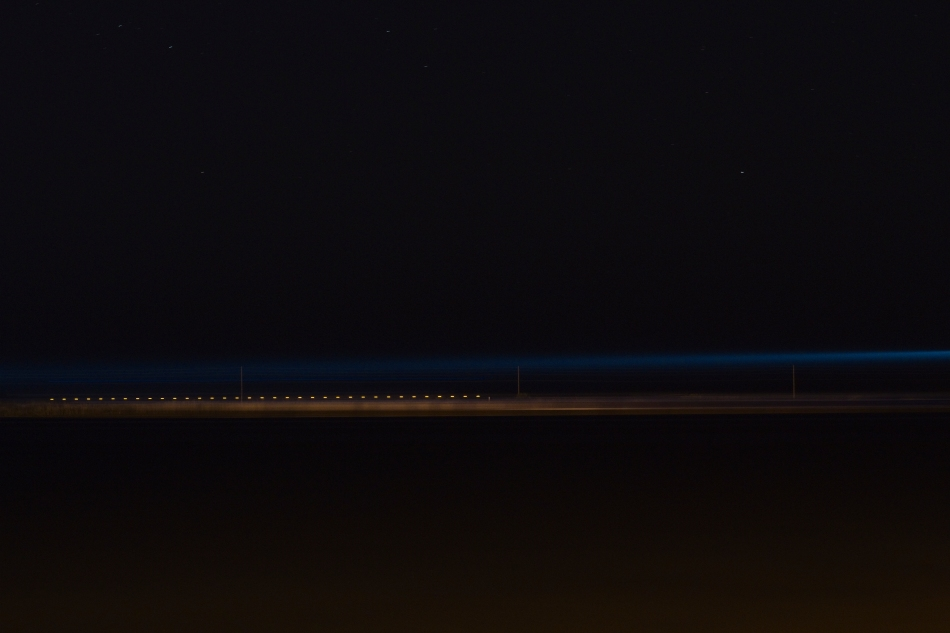 A night photograph of the ocean with a surreal quality. Photo by Braden Piper bgpiperphotography.com